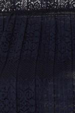 TFNC Gabbie Navy Crop Top