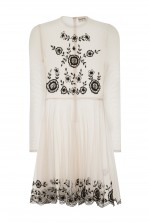 Lace & Beads Amanda Nude Sheer Dress