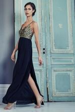 TFNC Vedette Black Maxi Dress