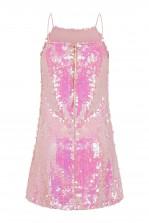 WalG Disco Sequin Pink Mini Dress
