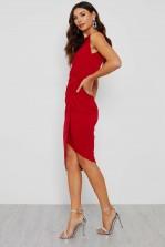 WalG Knot Tie Red Dress