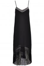 TFNC Ebbie Black Fringed Midi Dress