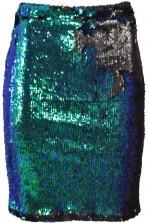 TFNC Mindy Green Sequin Bodycon Skirt