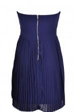 TFNC Rissa Pleated Bandeau Dress