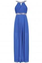 TFNC Bibione Embellished Halter Maxi Dress