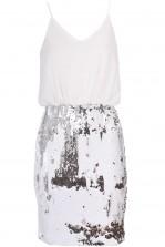 TFNC Carla White Sequin Dress