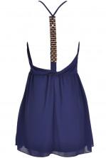 TFNC Fallabell Navy Chain Back Dress