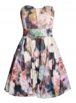 TFNC Geri Floral Bandeau Dress