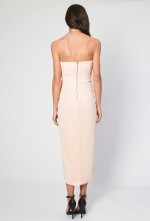 TFNC Phoebe Coral Bandeau Midi Dress