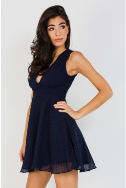 TFNC Babette Navy Mini Dress