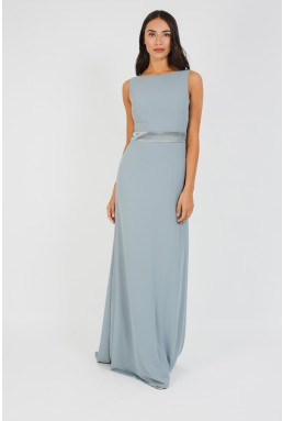 TFNC Halannah Blue Grey Maxi Dress