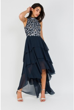 Lace & Beads Bruanna Navy Embellished Dress