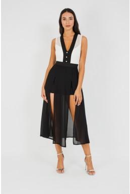 TFNC Calvina Black Midi Dress