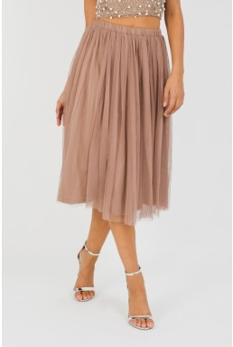 Lace & Beads Merlin Taupe Skirt