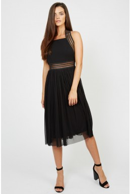 TFNC Sabila Black Midi Dress