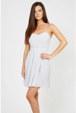TFNC Elida Grey Chiffon Dress