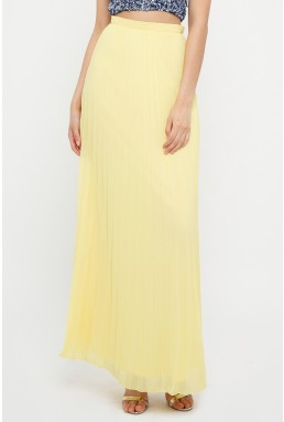 TFNC R22 Pale Yellow Maxi Skirt