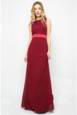 TFNC Halannah Burgundy Maxi Dress