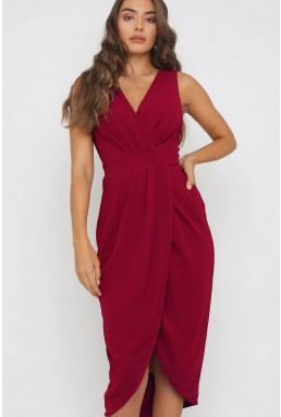 TFNC Nariva Mulberry Midi Dress