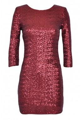 TFNC Paris Red Sequin Dress