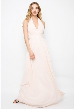 TFNC Vishaka Nude Maxi Dress