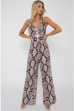 TFNC Kaa Animal Print Jumpsuit