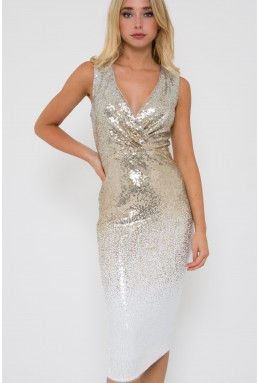 TFNC Nereida Sequin Ombre Midi Dress