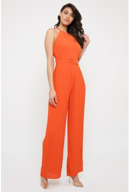 TFNC Sarae Orange Jumpsuit