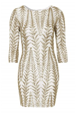 TFNC Roma White Sequin Dress