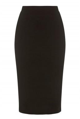 TFNC Rika Black Midi Skirt