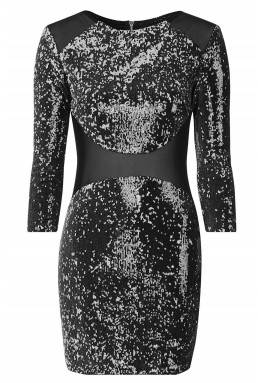 TFNC Bizzie Black Sequin Dress