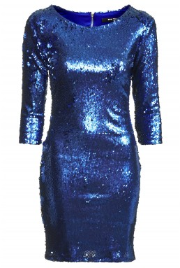 TFNC Paris Matte Blue Sequin Dress