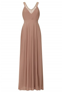 TFNC Atlanta Taupe Maxi Embellished Dress