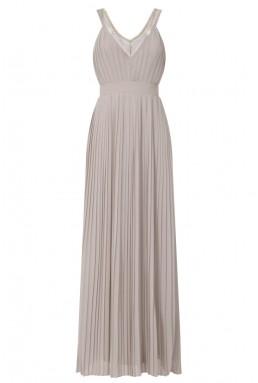 TFNC Atlanta Taupe Maxi Embellished Dress