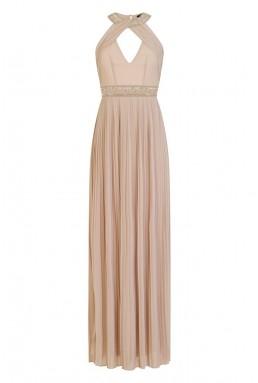 TFNC Savoy Embellished Whisper Pink Maxi Dress