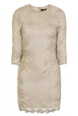 TFNC Paris Geometric Nude Dress