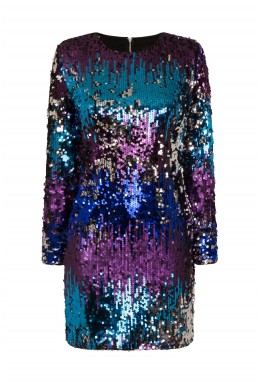TFNC Paris Rainbow Sequin Dress