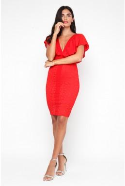 TFNC Samuella Red Midi Dress
