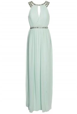 TFNC Rio Mint Maxi Embellished Dress