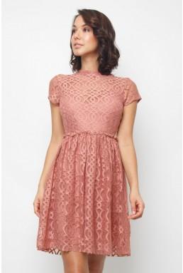 Lace & Beads Pete Dusty Pink Dress
