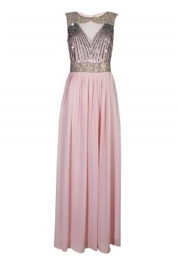 Lace & Beads Tina Pink Maxi Dress
