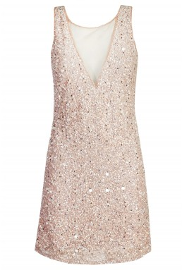 Lace & Beads Picasso Pink Embellished Dress