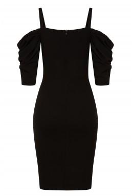 TFNC Brandi Black Midi Dress