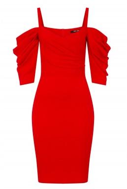 TFNC Brandi Red Midi Dress