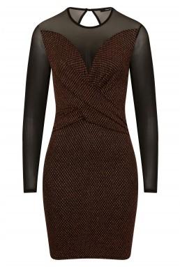 TFNC Martina Copper Mini Dress