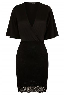 TFNC Dounia Black Midi Dress