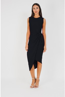 WalG Knot Tie Black Dress