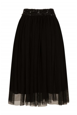 Lace & Beads Picasso Black Skirt