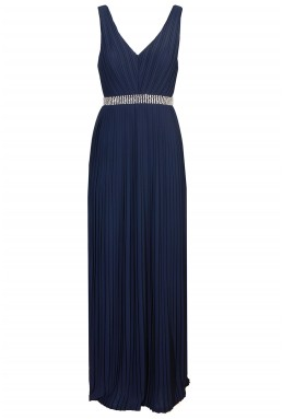 TFNC Danae Navy Maxi Embellished Dress