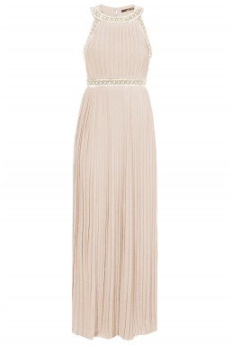 TFNC Janice Nude Maxi Dress
